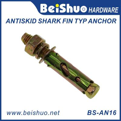 BS-AN16 M10 Carbon Steel Zinc Antiskid Shark Fin Typ Anchor