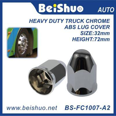 BS-FC1007 33mm Plastic Rear Hub Cover Set heavy-duty ABS chrome truck lug nut cover