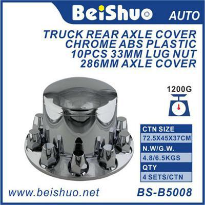 BS-B5008 ABS Chrome Truck Rear Axle Cover With Screw-In Lug Nut Cover W/33 Mm