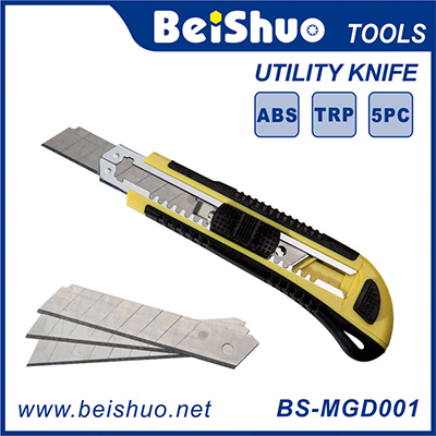 BS-MGD001 18mm Easy Cut Utility Knife With Three Blades Automatic Replacing Blades