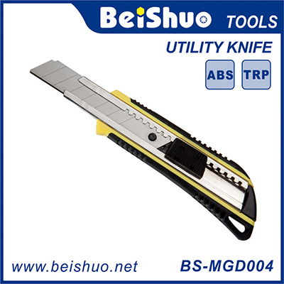 BS-MGD004 18mm Utility Knife With One Blade And Thick Handle Safety Cutter Hand Tool