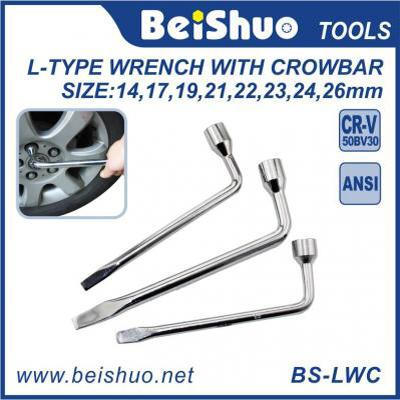 BS-LWC Full Size Metal L Type Wrench with Crowbar