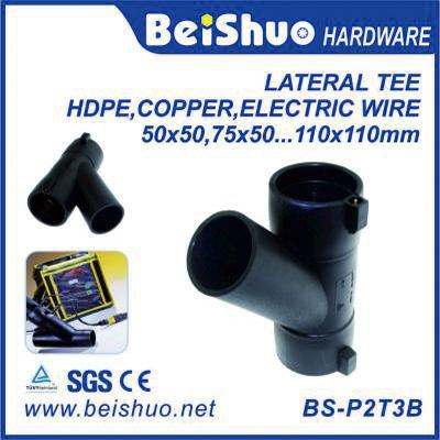 BS-P2T3B HDPE Pipe Fittings Electrofusion Reducing Tee