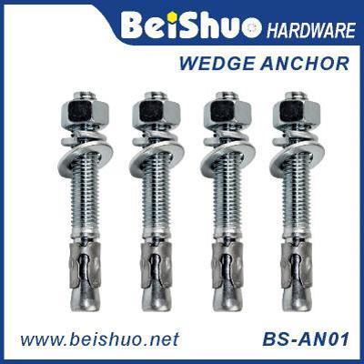 BS-AN01-C M10 Customize Carbon steel Z/P,HDG wedge anchor