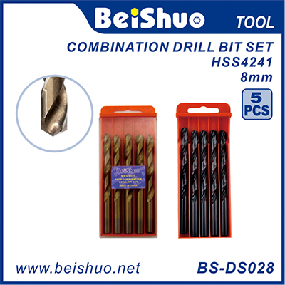 BS-DS028 Good Quality Competitive Price 5PCS HSS Twist Drill Bits Set