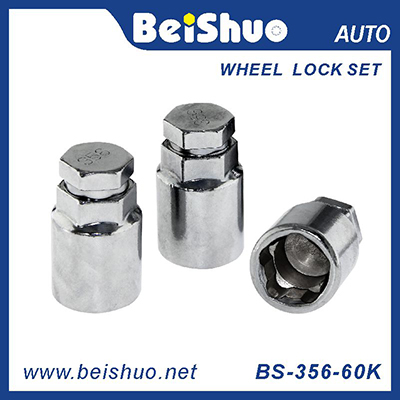 BS-365-60K Carbon steel 3pcs Wheel lock nut set