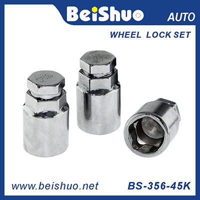 BS-365-45K Carbon steel 3pcs Wheel lock nut set