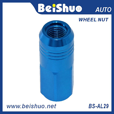 BS-AL29 Aluminum Blue Wheel lock nut set