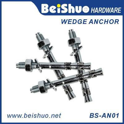 BS-AN01 H M10 Carbon steel plain provides strong wedge anchor