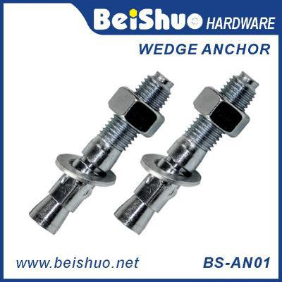 BS-AN01-D M14 Carbon steel Zinc plated provides strong  wedge anchor