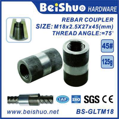 BS-GLTM18 Hot Sale Building Material Screwed Knurling Rebar Coupler