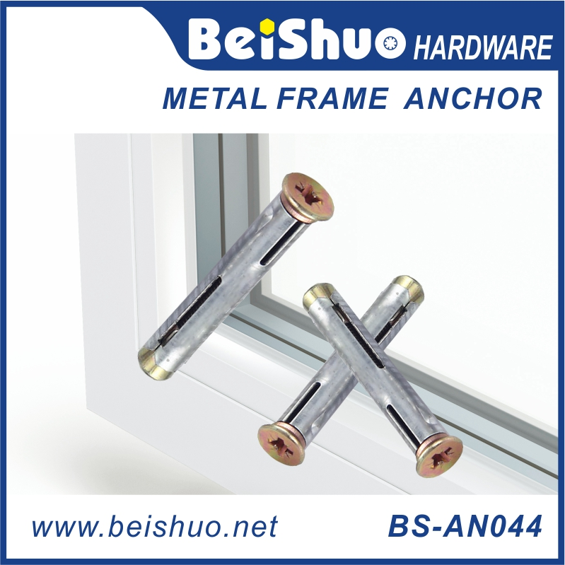 BS-AN044 M8 carbon steel metal window frame anchor