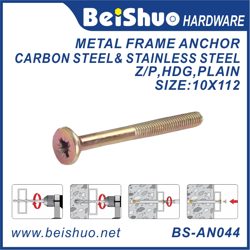 BS-AN044 M10 carbon steel metal frame anchor