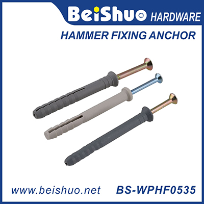 BS-WPHF0535 M5*35 nylon hammer fixing anchor