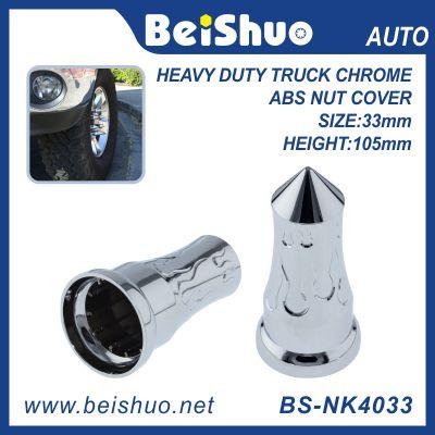 Towering Inferno Flames 33mm Chrome ABS Lug Nut Covers