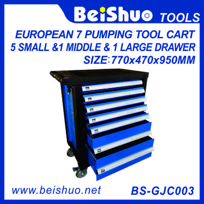 European pumping tool cart with 7 drawers BS-GJC003
