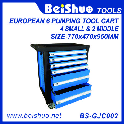 European pumping tool cart with 6 drawers BS-GJC002