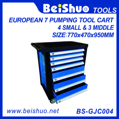 European pumping tool cart with 7 drawers BS-GJC004