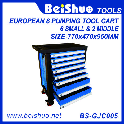 European pumping drawer tool cart with 8 drawers BS-GJC005