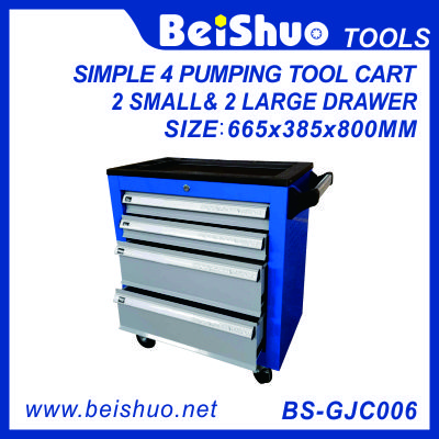 European pumping tool cart with 4 drawers BS-GJC006