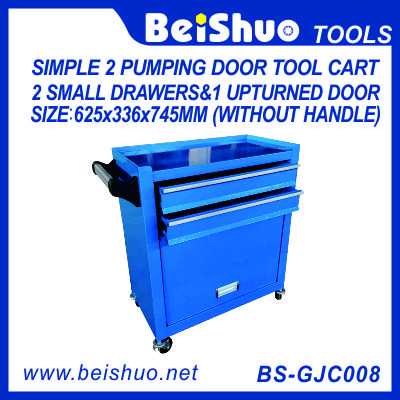 Simple Tool Cart with 2 Pumping Drawers BS-GJC008