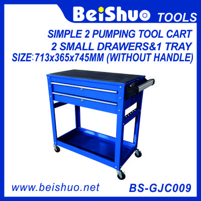 Simple Tool Cart with 2 Pumping Drawers BS-GJC009