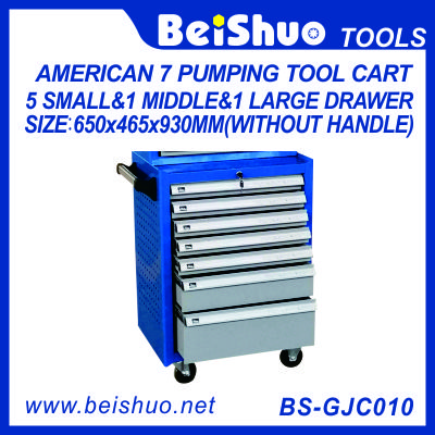 American Tool Cart with 7 Pumping Drawers BS-GJC010